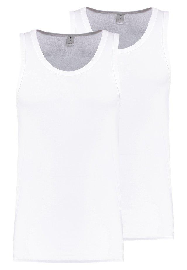 BASE TANK T 2-PACK - Débardeur - white