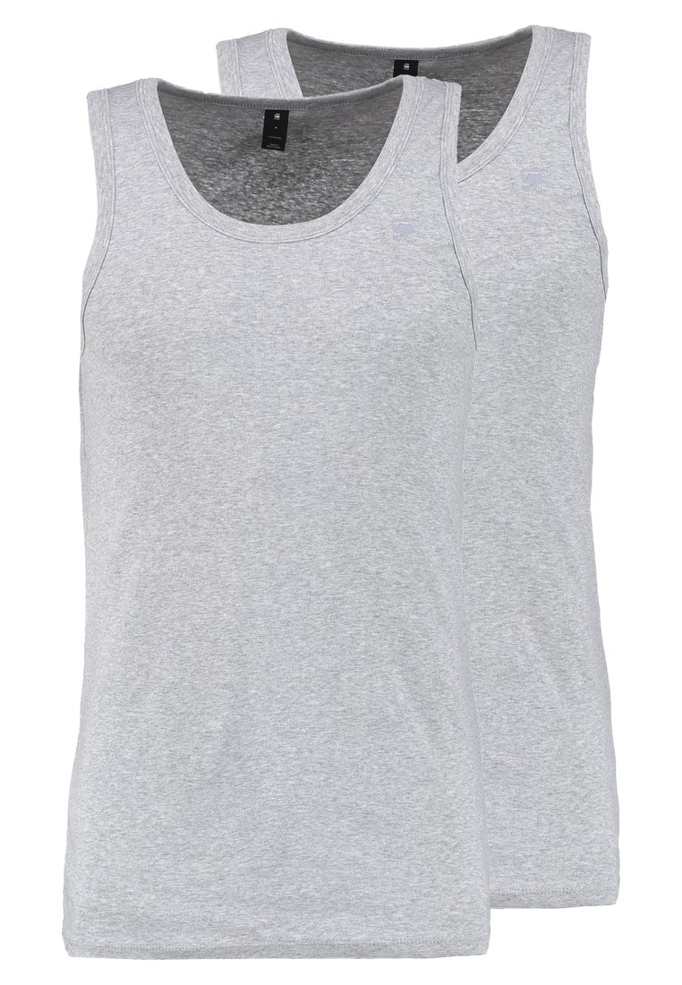 G-Star - BASE TANK T 2-PACK - Toppi - grey heather