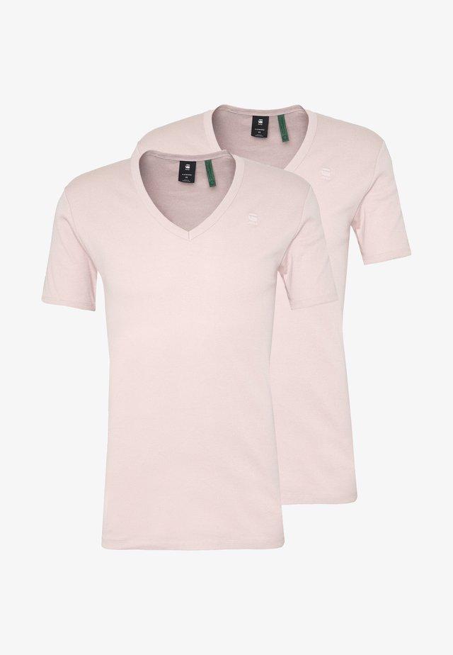 BASE V T S/S 2-PACK - Camiseta básica - langoustino