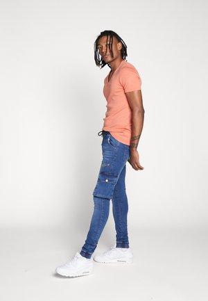 BASE V-NECK T S/S 2-PACK - T-shirt basic - apricot