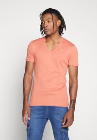 G-Star - BASE V T S/S 2-PACK - Basic T-shirt - apricot