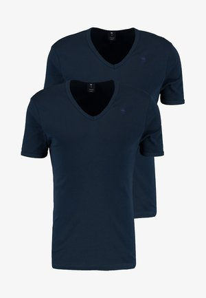 BASE V-NECK T S/S 2-PACK - Jednoduché triko - legion blue