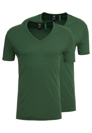 BASE V T S/S 2-PACK - T-shirt - bas - deep nuri green