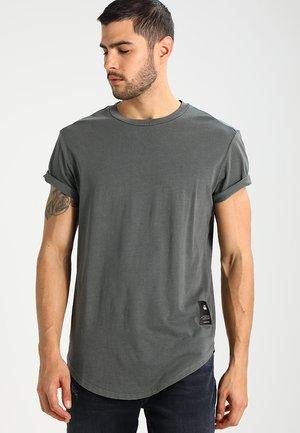 SWANDO RELAXED R T S/S - T-shirt basic - asfalt