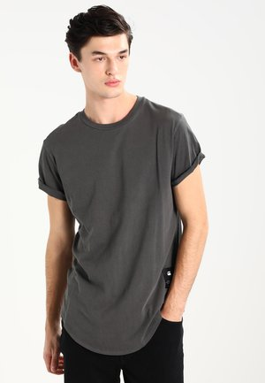 SWANDO RELAXED R T S/S - T-shirt - bas - dk black