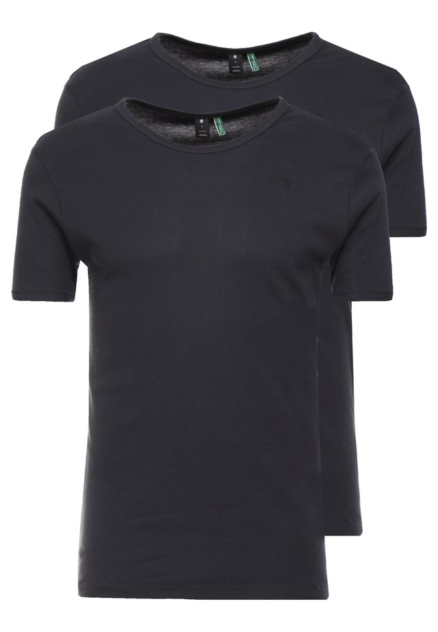 BASE 2 PACK R T S/S - Basic T-shirt - pedal grey