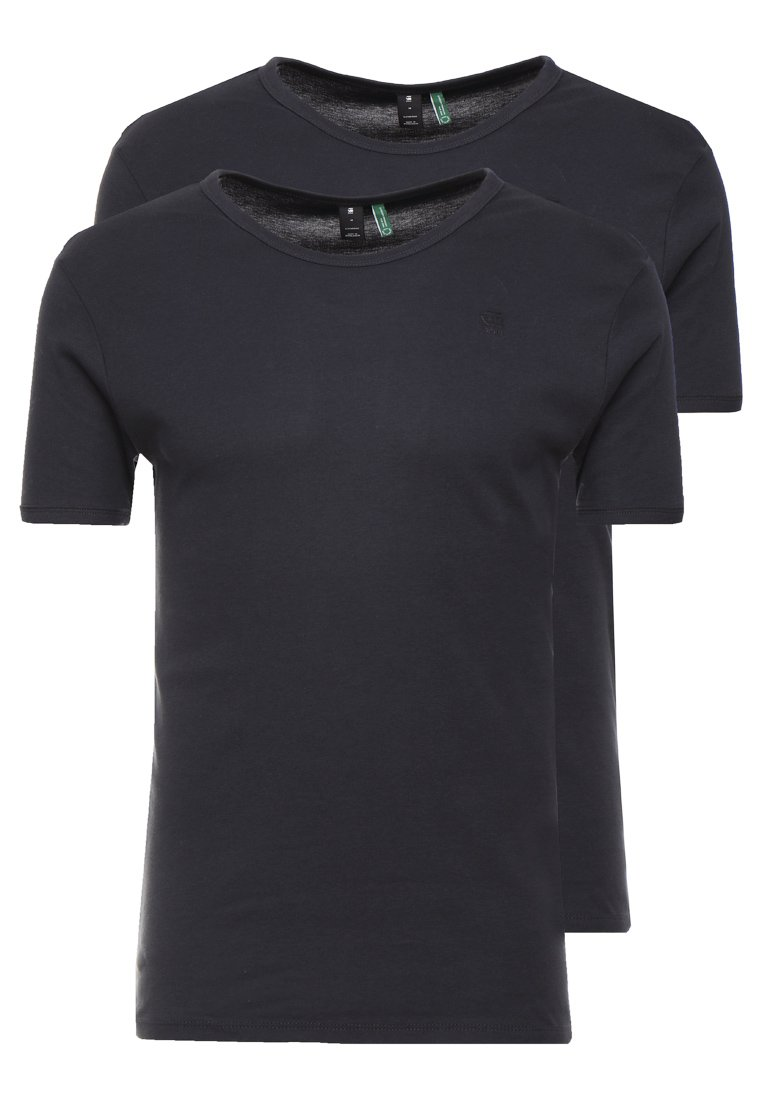 G-Star - BASE 2 PACK R T S/S - T-shirts basic - pedal grey