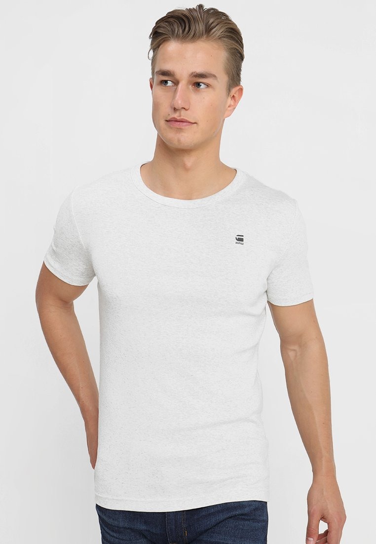 G-Star - DAPLIN R T S/S - Camiseta estampada - white heather