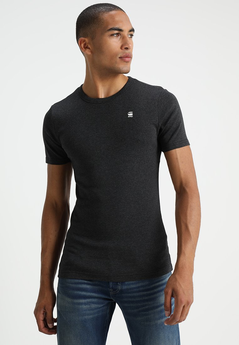 G-Star - DAPLIN R T S/S - T-shirt med print - black heather