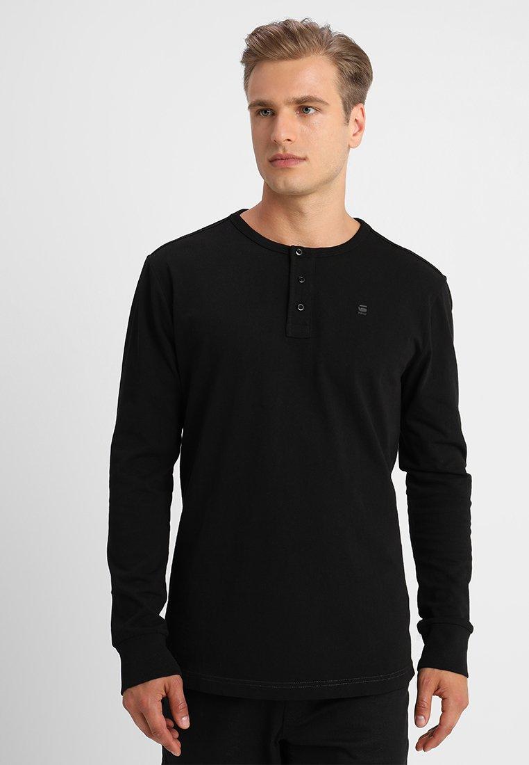 G-Star - STARKON GRANDDAD R T L/S - Long sleeved top - dark black