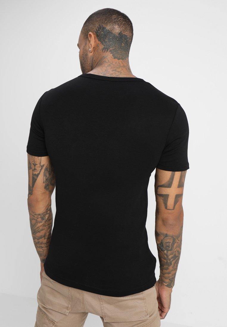 T 7 star Slim R sT Dark S Imprimé Graphic G Black shirt orBWeCdx