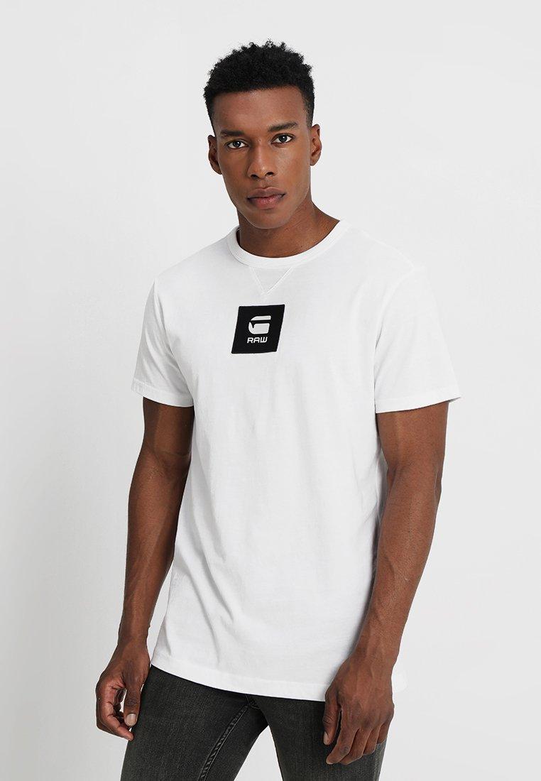 G-Star - SWANDO BOX LOGO REGULAR R T S\S - T-Shirt basic - white