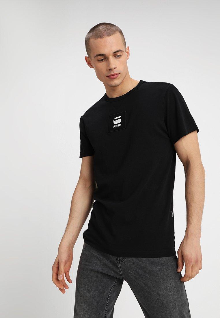 G-Star - SWANDO BOX LOGO REGULAR R T S\S - T-Shirt basic - dark black