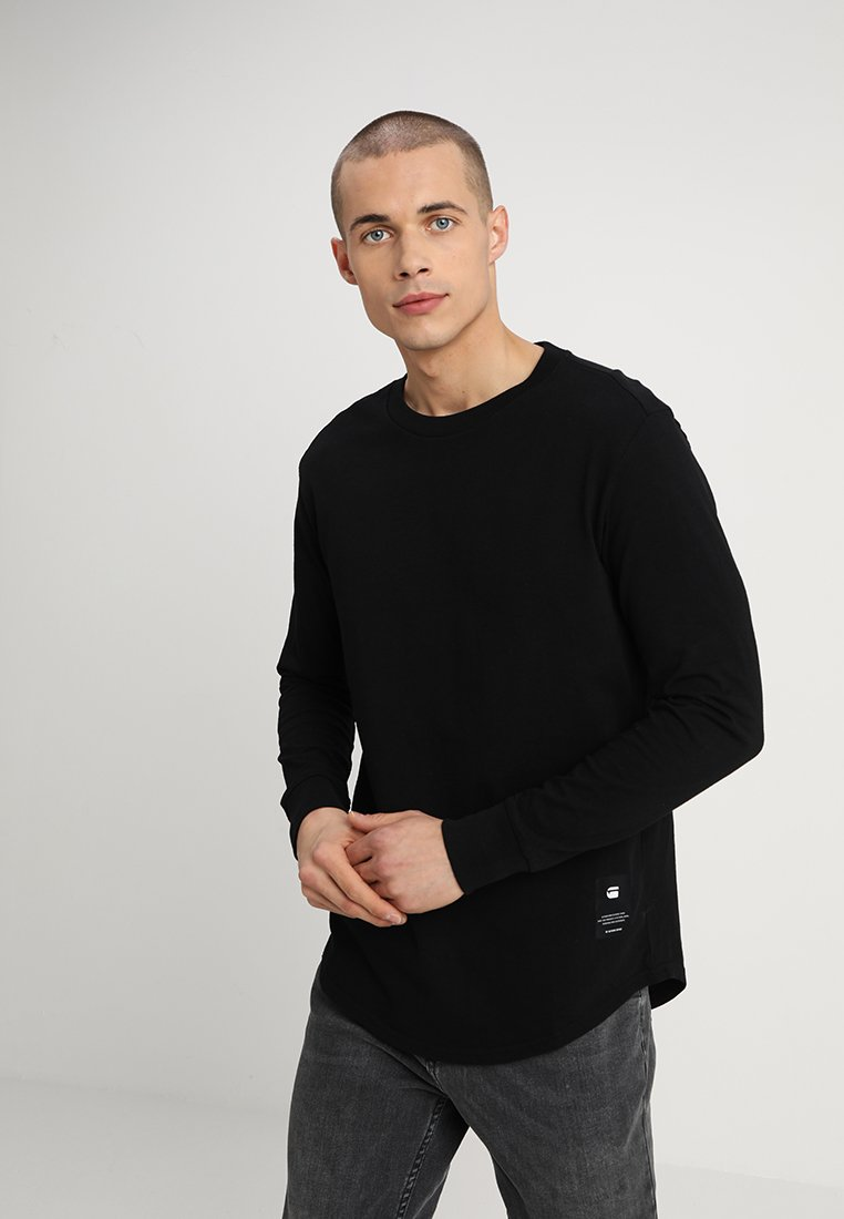 G-Star - SWANDO RELAXED R T L\S - Long sleeved top - dark black