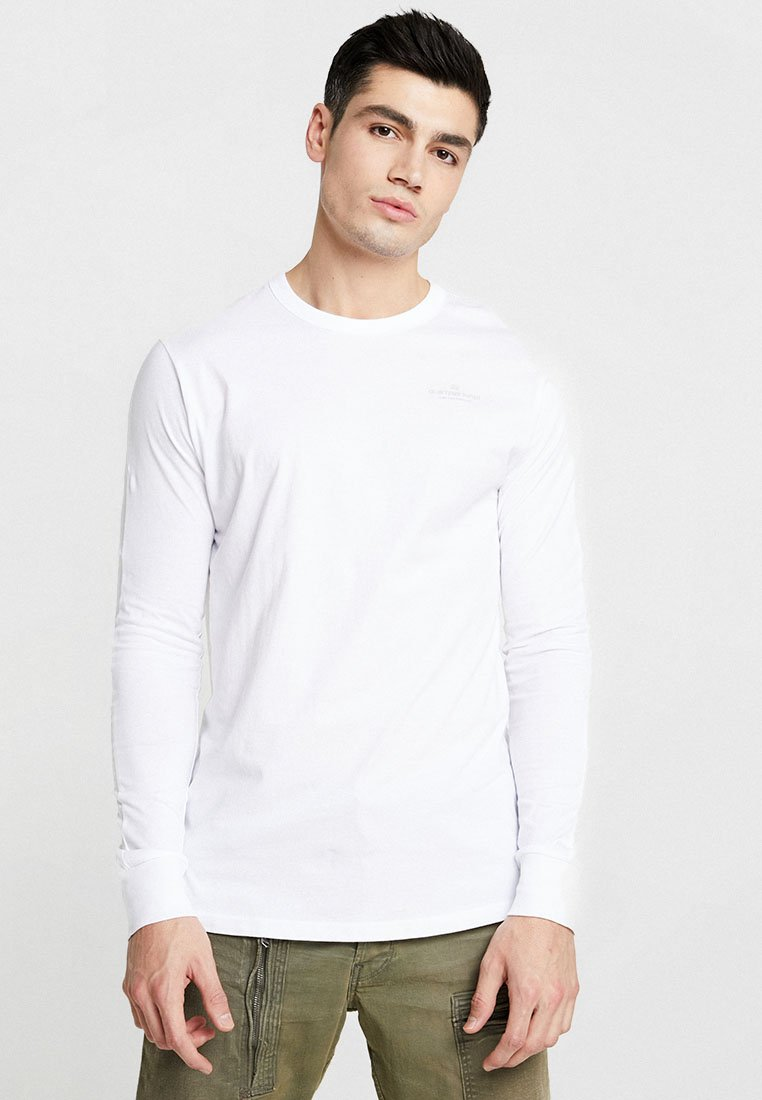 G-Star - KORPAZ GRAPHIC R T L\S - Long sleeved top - white