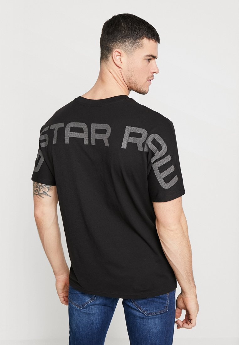 G-Star - KORPAZ GRAPHIC R T S\S - T-shirt print - dark black