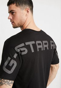 G-Star - KORPAZ GRAPHIC R T S\S - T-shirt print - dark black - 5