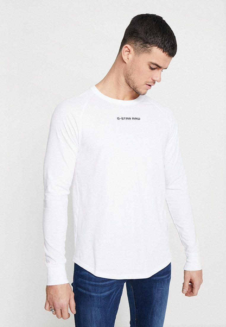 G-Star - SWANDO GRAPHIC RELAXED R T L\S - Long sleeved top - white