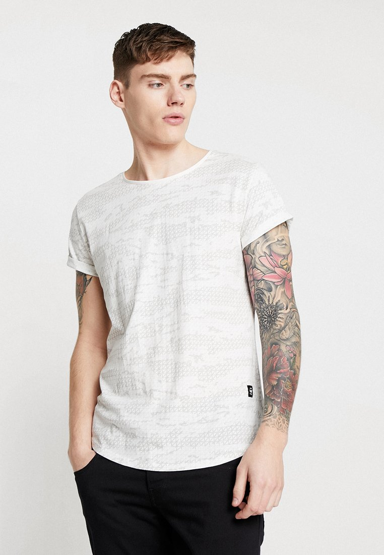G-Star - VONTONI RELAXED - T-Shirt print - milk/grey marble