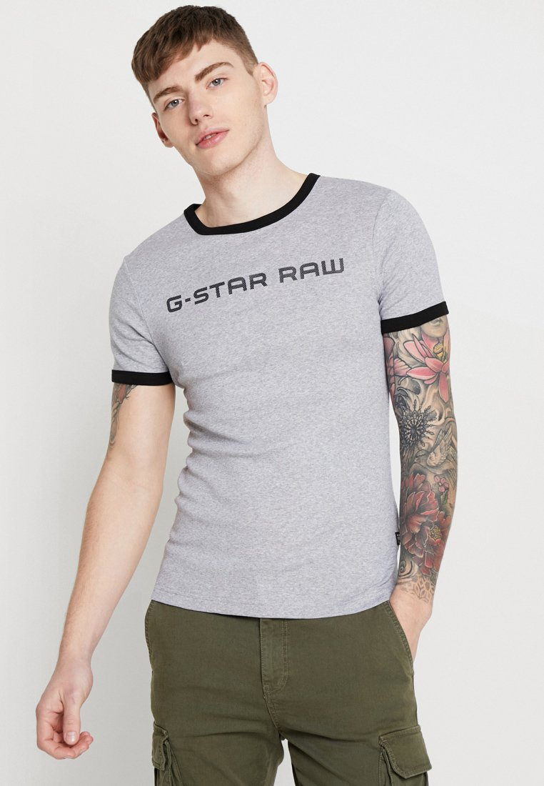 G-Star - XEMOJ SLIM R T S\S - T-shirt print - grey heather