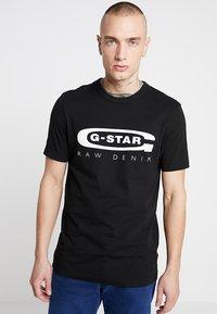 G-Star - GRAPHIC 4 R T S/S - T-shirt print - black - 0