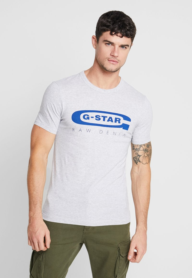 G-Star - GRAPHIC 4 SLIM - Camiseta estampada - light grey heather