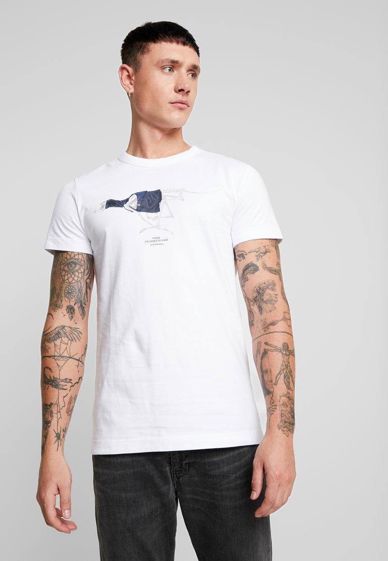 G-Star - 30YR STRAIGHT - Print T-shirt - white
