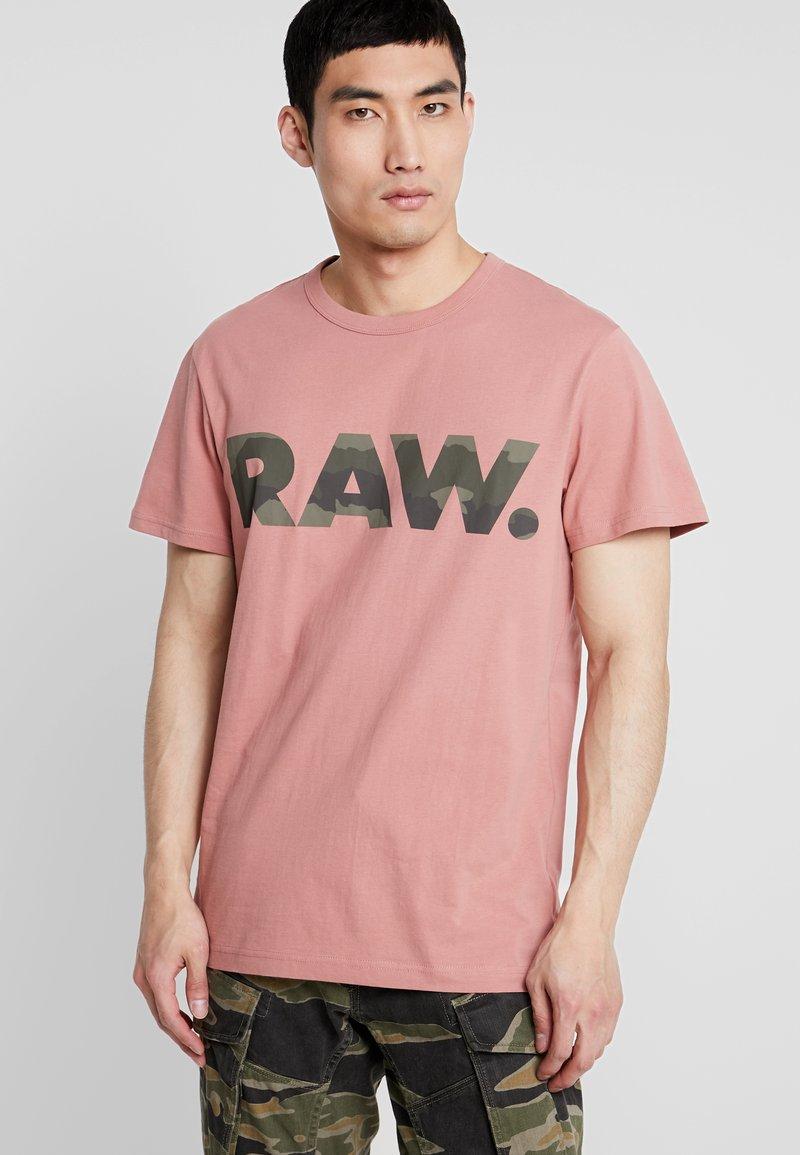 G-Star - GRAPHIC 6 STRAIGHT - Camiseta estampada - dk tea rose
