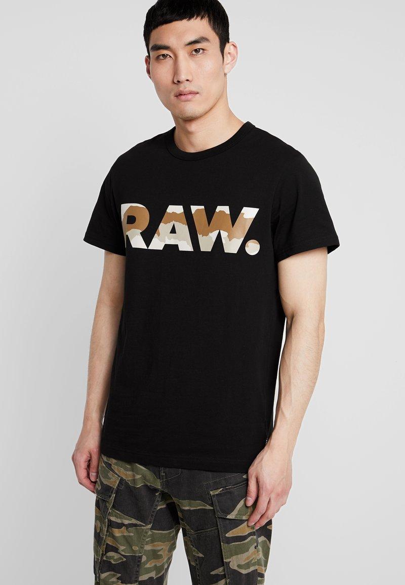 G-Star - GRAPHIC 6 STRAIGHT - Camiseta estampada - black