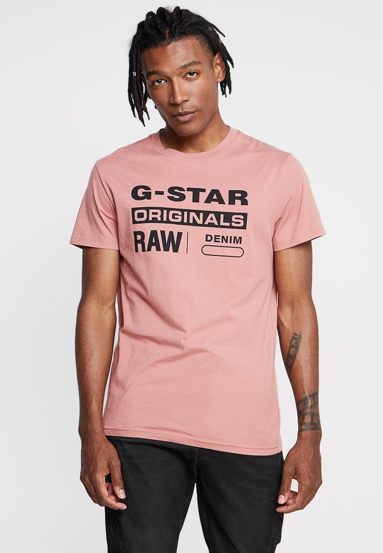 G-Star - GRAPHIC 8 STRAIGHT - T-shirts print - dark tea rose