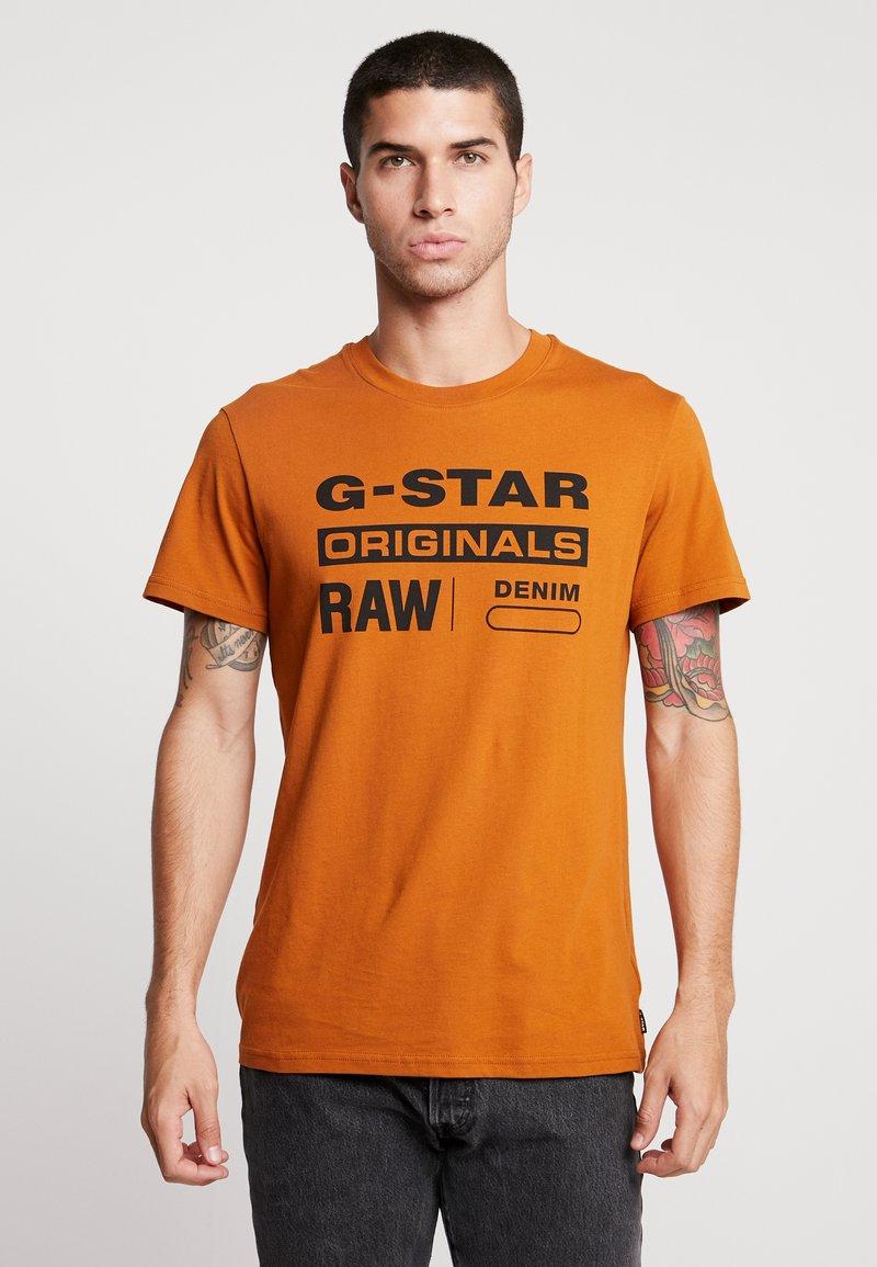 G-Star - GRAPHIC 8 STRAIGHT - T-shirt print - aged almond
