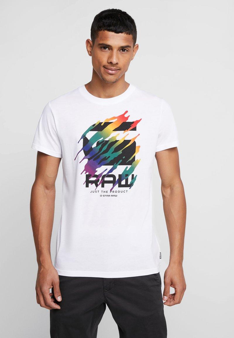 G-Star - PRIDE GRAPHIC 7 STRAIGHT - Print T-shirt - white