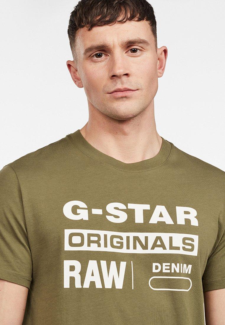 G star LogoT shirt Graphic Green Imprimé 6bygYf7