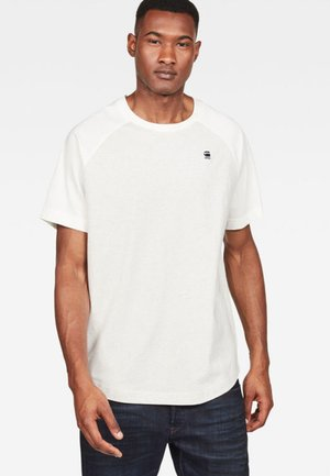 ORE RAGLAN LOOSE ROUND NECK - T-shirt imprimé - white