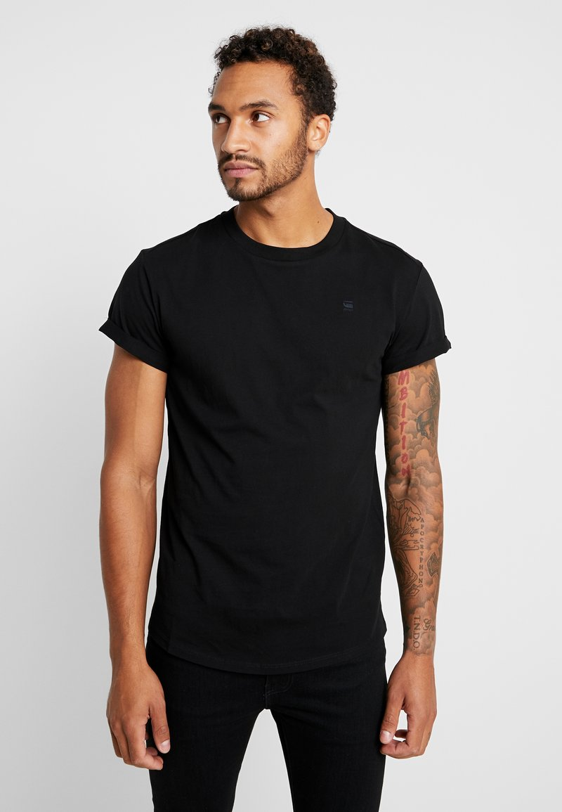 G-Star - SHELO RELAXED R T S/S - Jednoduché triko - black
