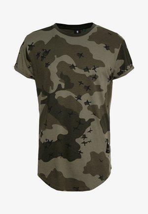 SWANDO RELAXED RT S/S - T-shirt imprimé - dark shamrock