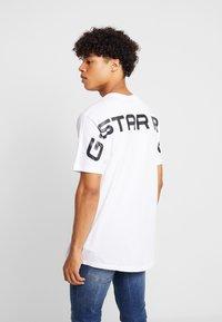 G-Star - KORPAZ LOGO - Camiseta estampada - white - 2