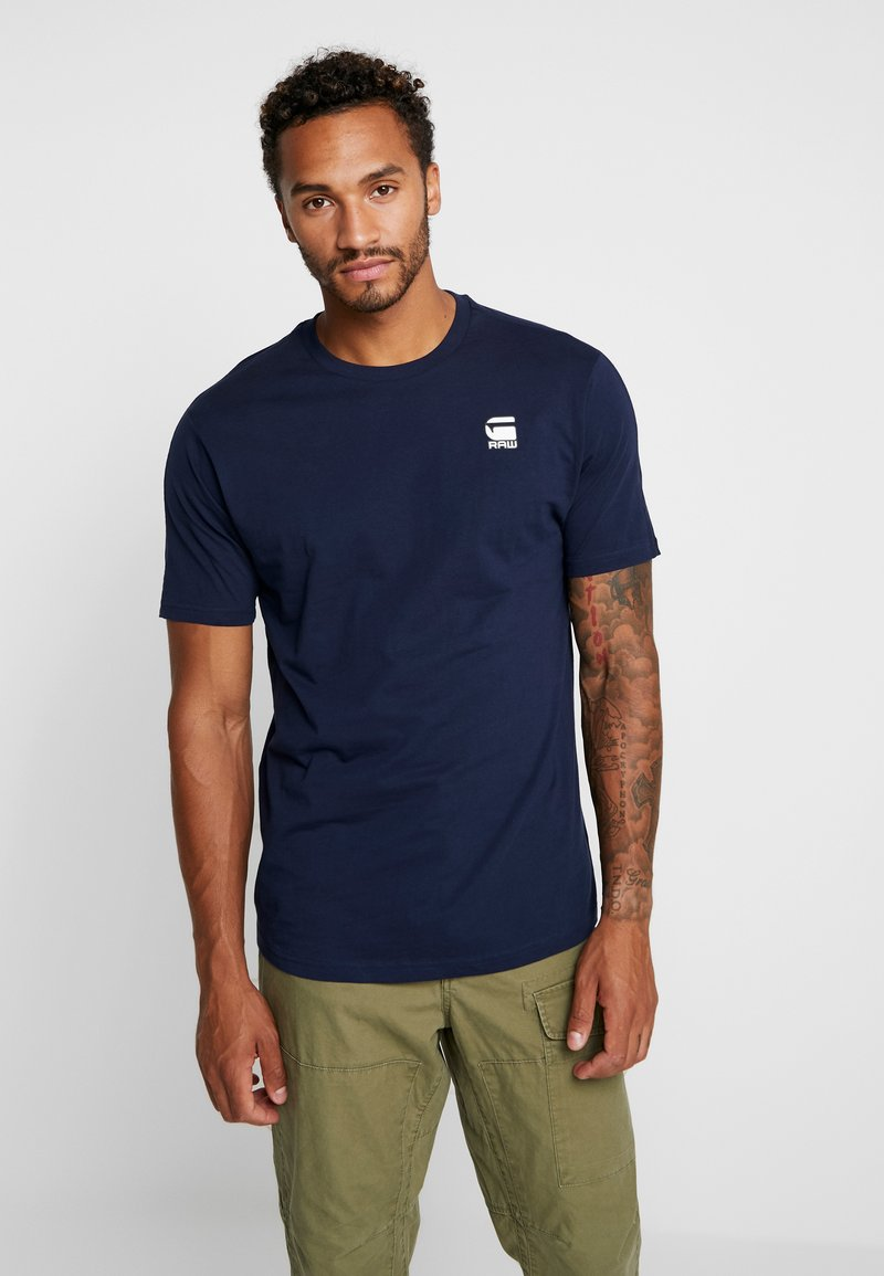 G-Star - KORPAZ LOGO - T-shirts med print - sartho blue
