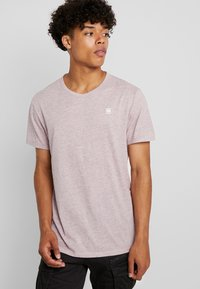 G-Star - BASE-S R T S/S - T-shirt basique - port red heather - 0
