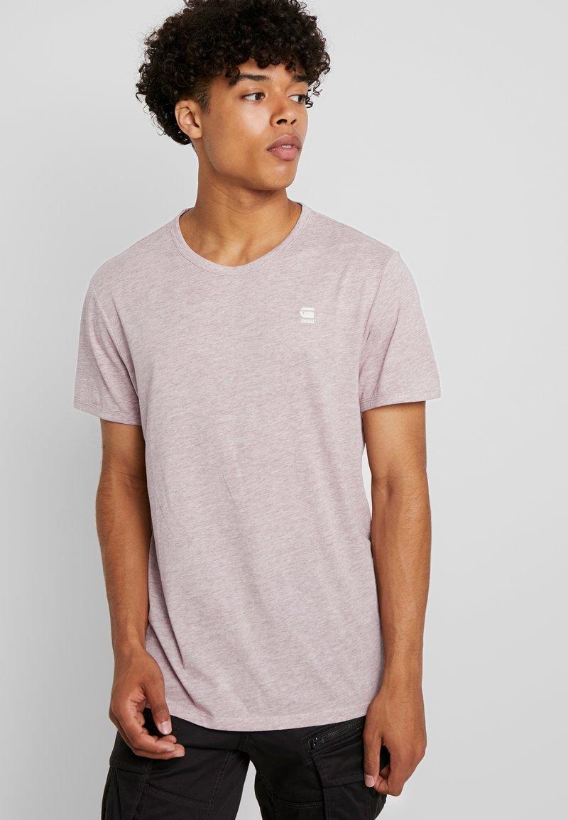G-Star - BASE-S R T S/S - T-shirt basique - port red heather