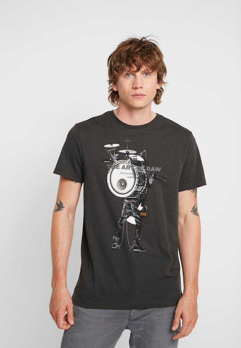 G-Star - GRAPHIC 3 PHOTO R T S/S - Print T-shirt - raven
