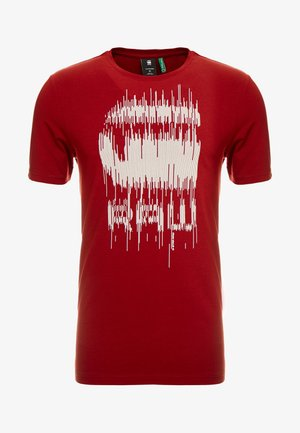 GRAPHIC SLIM - Camiseta estampada - dark burned red