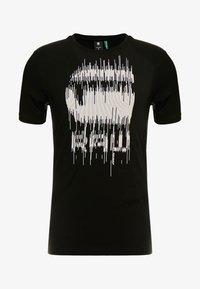 G-Star - GRAPHIC SLIM - T-shirt med print - black - 4