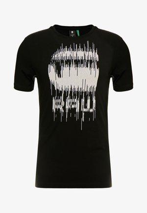 GRAPHIC SLIM - Print T-shirt - black