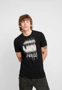 G-Star - GRAPHIC SLIM - T-shirt med print - black - 0