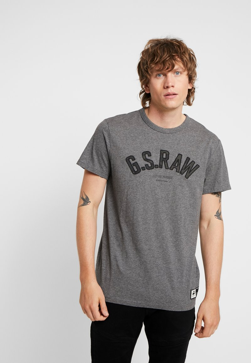G-Star - GRAPHIC 12 R T S/S - T-shirts print - granite heather