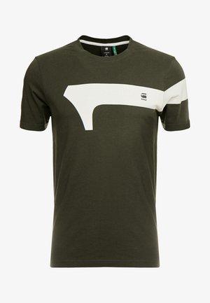 GRAPHIC 13 SLIM R T S/S - T-shirt print - asfalt