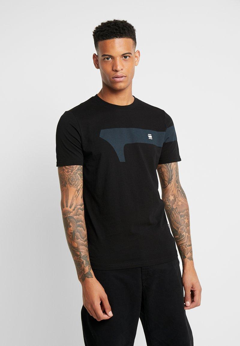 G-Star - GRAPHIC 13 SLIM R T S/S - Print T-shirt - dk black