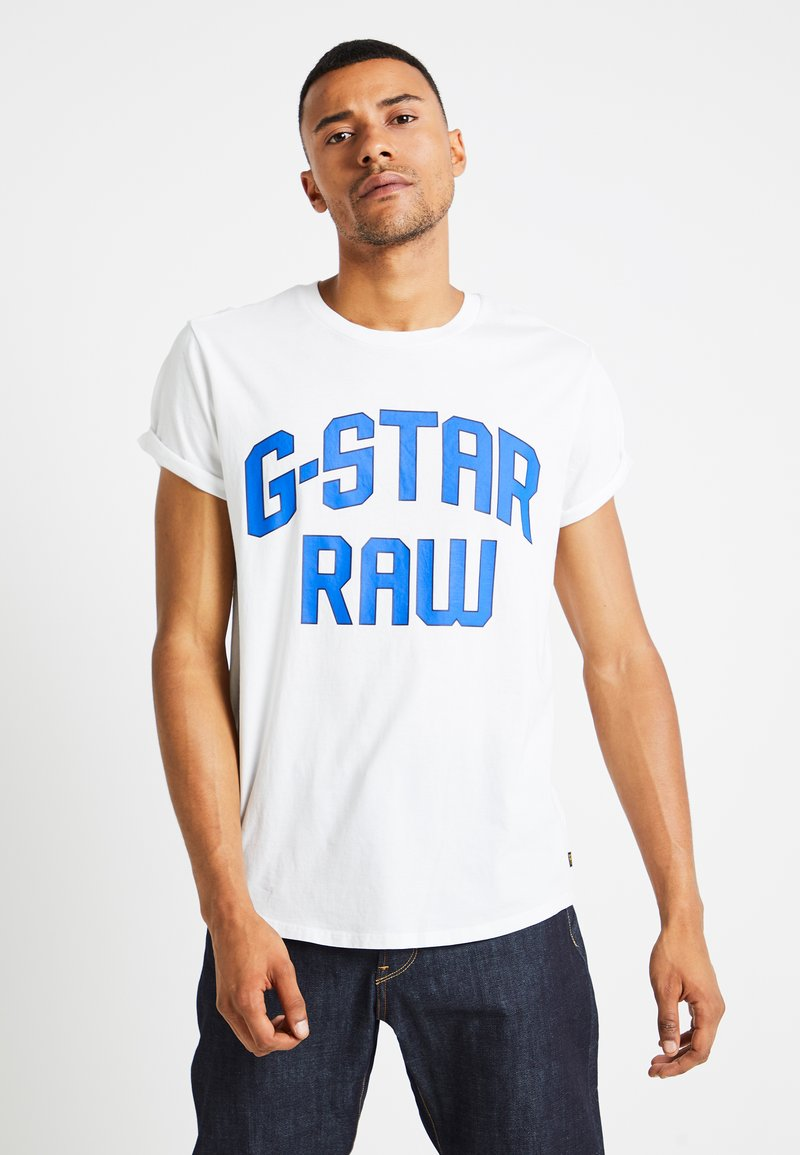 G-Star - SHELO RELAXED R T S/S - T-shirt con stampa - white