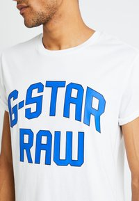 G-Star - SHELO RELAXED R T S/S - T-shirt con stampa - white - 5